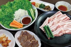 明野店 国産豚バラ盛り(サムギョプサル)